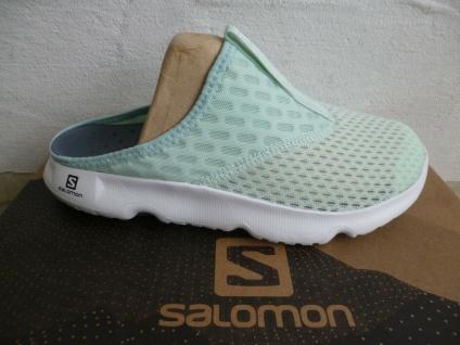 Salomon Damen Clogs Pantoletten Pantolette RX Slide 5.0 W mint grün 412787 NEU