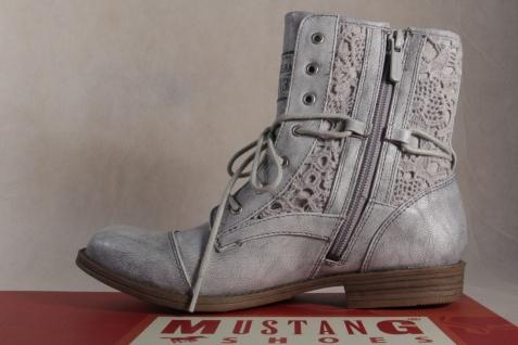 Mustang Stiefeletten Stiefel Stiefeletten Mustang Schnürstiefel Stiefel silber NEU! 6f194f