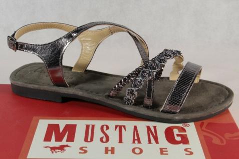 Mustang Damen Sandale Sandalette silber 1323-801 Neu!