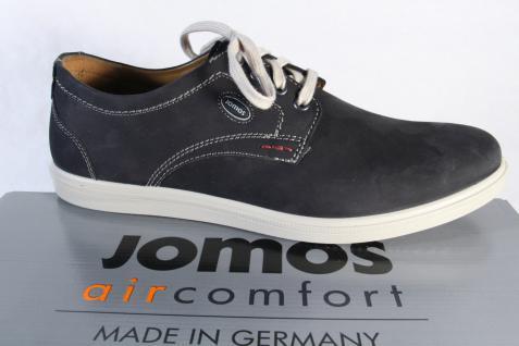 Jomos Herren Schnürschuhe Halbschuhe Sneaker Leder schwarz NEU