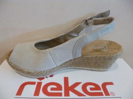 Rieker NEU!! Damen Sandale Sandalette beige NEU!! Rieker 18fa03