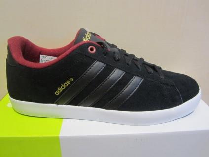 Adidas schwarz/bordo Herren Schnürschuh Sneakers DERBY schwarz/bordo Adidas Leder NEU 88672d