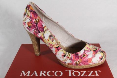 Marco Tozzi Damen Pumps Slipper pink multi Textil NEU!
