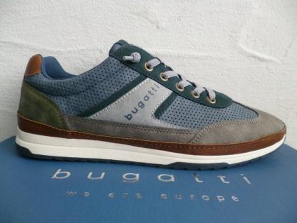 Bugatti Sneakers Sneaker Schnürschuhe Halbschuhe Slipper blau/grau A3A01 NEU!