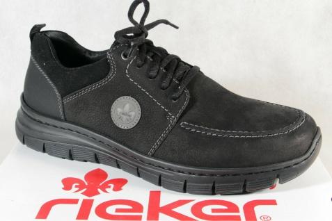 Rieker Herren Sneakers Halbschuhe Schnürschuhe B5630 schwarz NEU!!