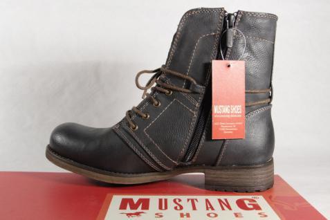 Mustang Stiefel Stiefel 1139 Stiefeletten Schnürstiefel Stiefel Mustang grau NEU! 5d7c48