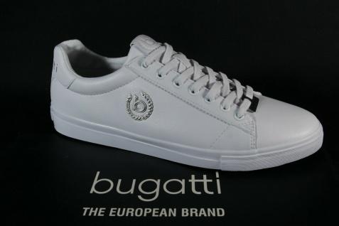 Bugatti Herren Sneakers Schnürschuh Schnürschuhe Halbschuhe weiß 92901 NEU