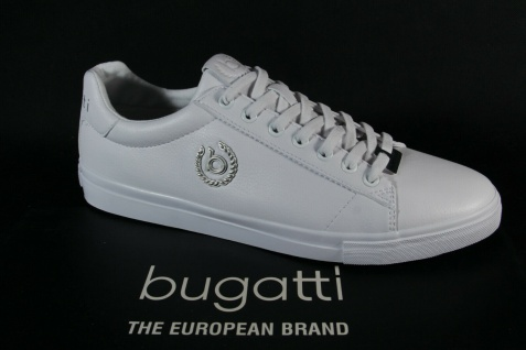 Bugatti Herren Sneakers Sneaker Schnürschuh Schnürschuhe weiß 92901 NEU