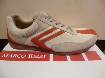Marco Tozzi Herren Schnürschuhe Halbschuhe NEU Sneaker beige/rot 50% ROTuziert NEU Halbschuhe 06d4cd