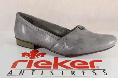 Rieker Damen Slipper Pumps Halbschuhe Ballerina grau, 51961 Neu!!!