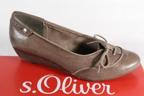 s.Oliver Ballerina Slipper Halbschuhe Pumps pfeffer, Lederinnensohle NEU!!