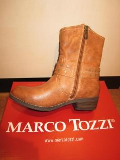 Marco Tozzi Stiefel gefüttert, 46406 Stiefelette, braun, cognac, gefüttert, Stiefel RV NEU!! a9e0e3