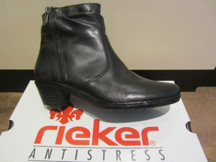 Rieker Stiefel, schwarz, Leder, warm gefüttert, 76960 NEU