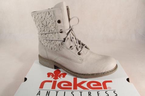Rieker Z2118 Damen Stiefel Siefeletten Stiefel Kunstleder weiß NEU!