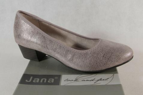 Jana Damen Pumps Soft Line Slipper Ballerina taupe Weite H NEU!
