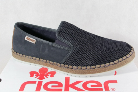 Rieker Slipper Sneaker Sneakers Sportschuhe Halbschuhe blau B5265 NEU