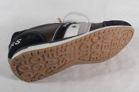 Dockers Echtleder Herren Schnürschuh Sneakers blau/grau Echtleder Dockers NEU! cbbb20