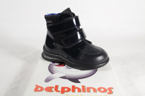 Mega Gaga Mädchen Stiefel Stiefeletten Boots Lack/Leder blau NEU!