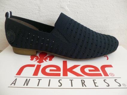Rieker Slipper Ballerina Sneakers Halbschuhe Sportschuhe Sneakers blau 51984 NEU