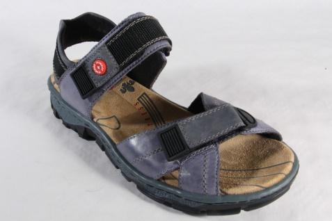 Rieker Damen Sandalen Leder Sandaletten blau Leder Sandalen 68851 NEU!! cf35cf