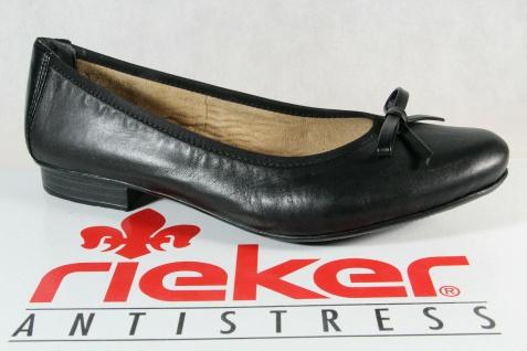 Rieker Ballerina Slipper Pumps schwarz Echtleder 51953 NEU!