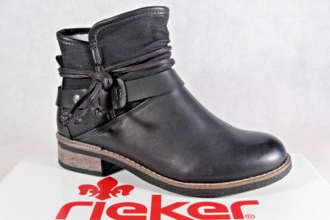 buy popular 97791 85d0b Rieker Damen Stiefel Stiefelette Stiefeletten Boots schwarz warm gefüttert  NEU!