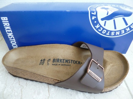 Birkenstock Madrid Pantolette Pantoletten Sandale braun 040391 NEU!