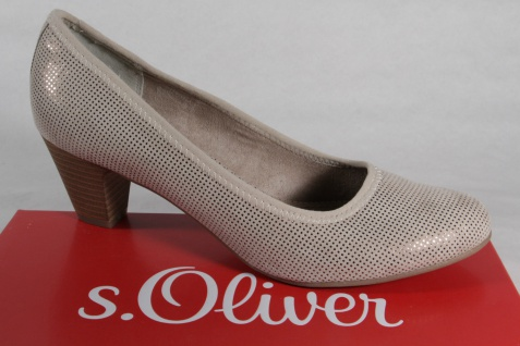 s.Oliver Pumps Pumps s.Oliver Slipper Halbschuhe beige NEU!! f216d5
