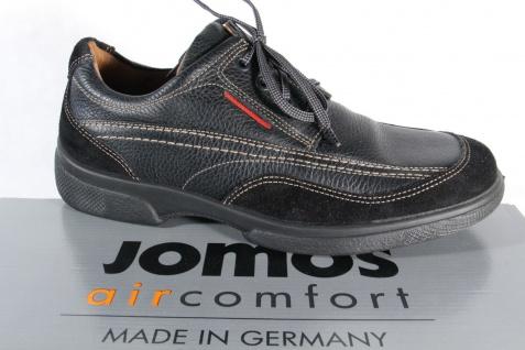 Jomos Halbschuh Sneaker, schwarz, atmungsaktives Wechselfußbett 23344 NEU