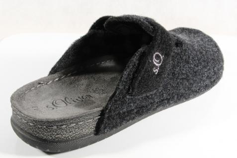 S.Oliver Pantoffel Pantoletten Hausschuhe schwarz Fleece schwarz Hausschuhe NEU!!! 3879df