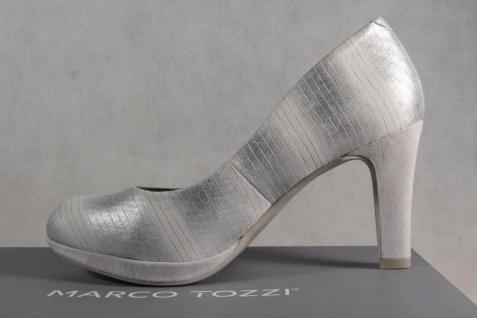 Marco Tozzi Pumps Ballerina Slipper grau-metallic NEU! - Vorschau 3