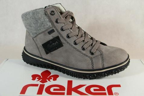 Rieker-Tex Schnürstiefel Stiefelette Stiefel Boots grau Z4230 NEU!