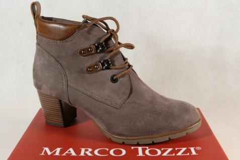 Marco Tozzi 25121 Damen Stiefelette Schnürstiefel Stiefel Boots pfeffer NEU!