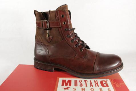 buy popular d18f5 74b34 Mustang 4890 Herren Stiefel Stiefeletten Boots Echtleder braun NEU