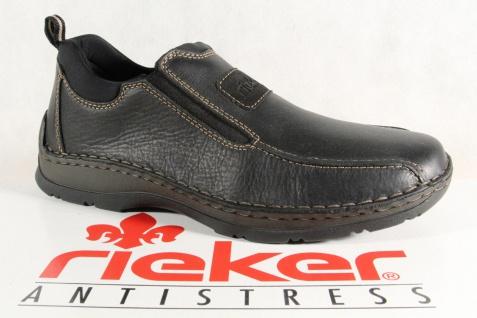 Rieker Herren Slipper Sneakers schwarz Echtleder 05363 NEU - Vorschau 1