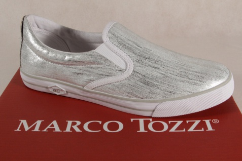 Marco Tozzi Damen Slipper Ballerinas Sneakers silber 24611 NEU!