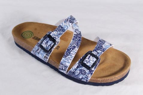 Dr. Brinkmann Damen Pantolette weiß, Pantoffel blau/ weiß, Pantolette NEU! e2532f