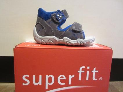 Superfit KV Lauflern Sandale Sandalette grau/blau KV Superfit Leder Lederfußbett Neu !!! ea5435