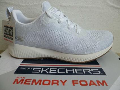 Skechers Damen Sneaker Sneakers Sportschuhe Schnürschuhe weiß 117006 NEU!