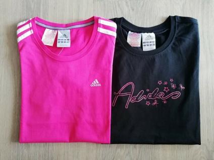 Adidas T-Shirts Set Mädchen pink schwarz Shirt Kinder Tops Sport Top Neu!