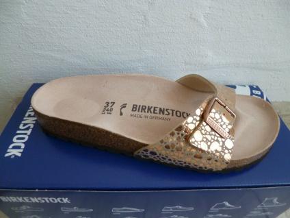 Birkenstock Madrid Pantolette Sandale Metallic Stones Copper 1006693 NEU!