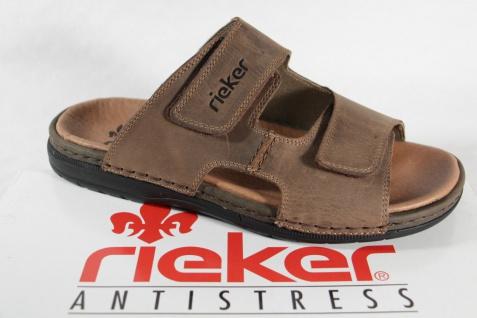 Rieker Hausschuhe Pantoletten Pantolette Hausschuhe Rieker braun Leder 25592 NEU! 685998