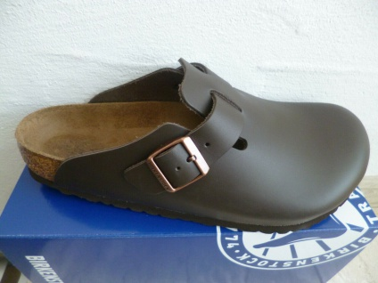 d8836df72b01ba Birkenstock Boston Clogs Pantolette Dark Brown Echtleder 60101 NEU!