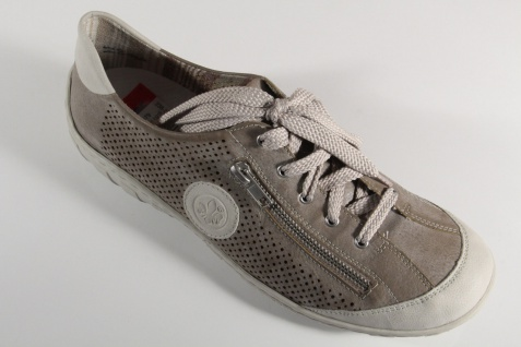 Rieker Damen Schnürschuhe, Halbschuhe, RV Sneakers, beige, M3747 RV Halbschuhe, NEU! 26638b