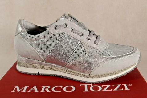 Marco Tozzi Slipper Sneakers Halbschuhe silber 23711 NEU!