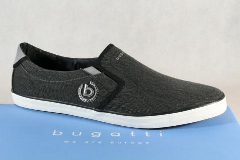 Bugatti Slipper Halbschuhe Sneaker Sportschuhe grau/schwarz 48007 NEU