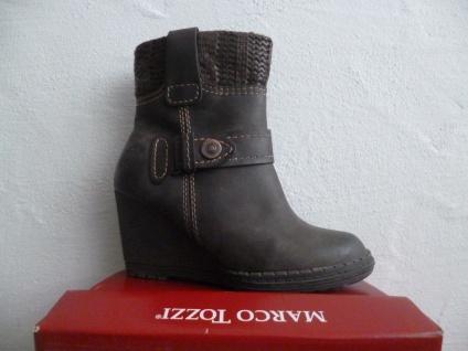Marco Tozzi Stiefel Damen Stiefel Stiefeletten Stieflette Stiefel Tozzi Keilabsatz braun NEU! f606e2