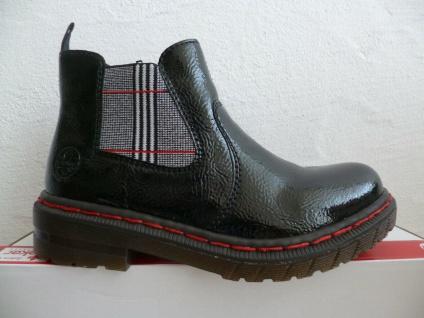 Rieker Damen Stiefel Stiefelette Stiefeletten Boots schwarz Lack 76264 NEU! - Vorschau 4