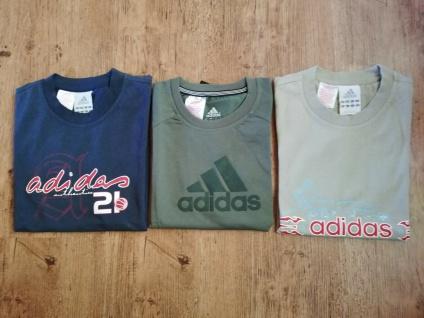 Adidas T-Shirts Set Jungen schwarz beige grün/khaki Angebot Kinder Sport NEU