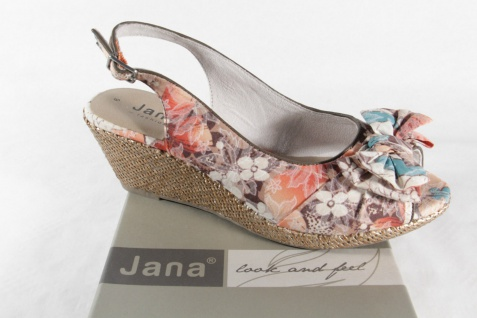 Jana Damen Sandale multicolor, weiche Innensohle, Gummisohle NEU!!